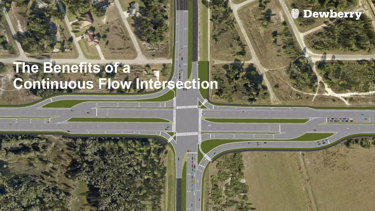 the benefits of a continuous flow intersection youtube