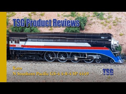 N Scale 4-8-4 GS-4 4449 Freedom Train Kato Product Review