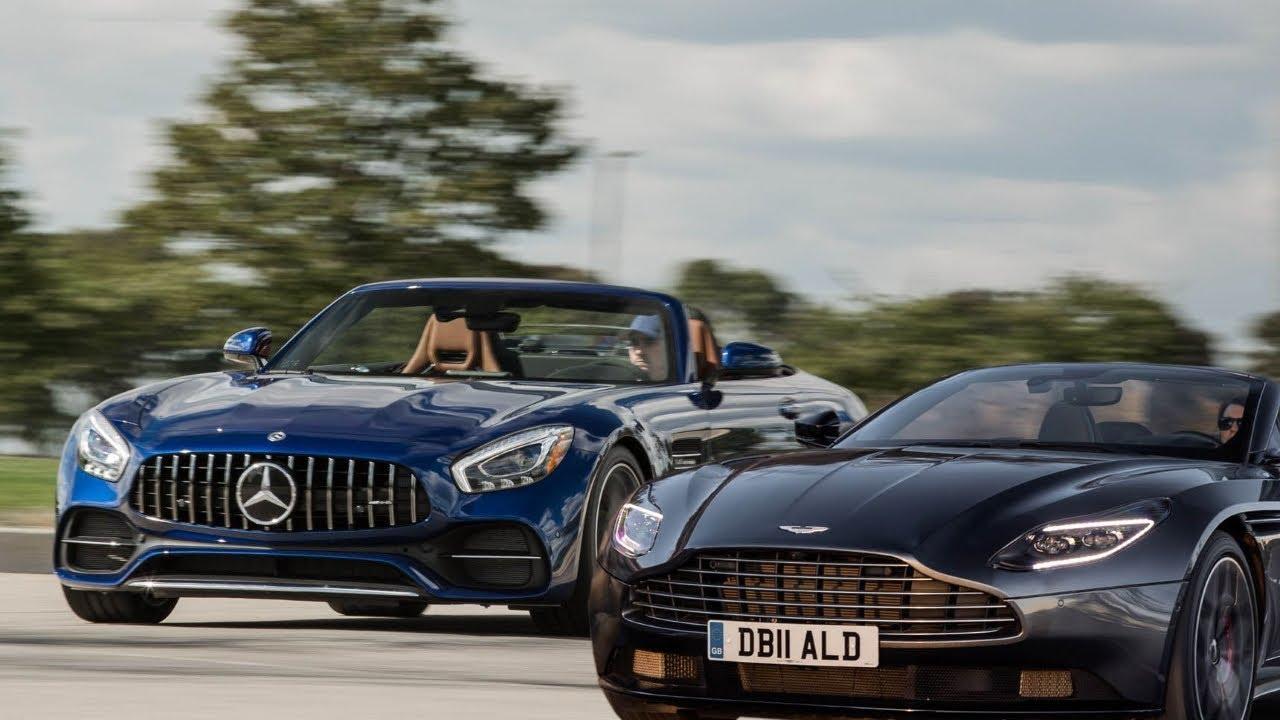 2019 Aston Martin Db11 Volante Vs 2018 Mercedes Amg Gt C Roadster Youtube