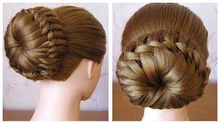 Chignon tress facile  Tuto Coiffure simple cheveux mi longlong  Coiffure tresse en noeuds