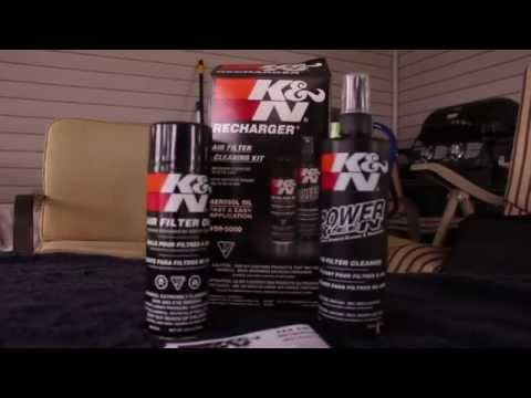 How to Clean a K & N Air Filter on ALL CARS!