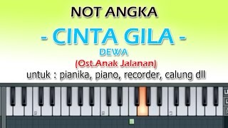 NOT ANGKA - CINTA GILA - DEWA  (Ost.Anak Jalanan)  by denny ranch YOUTUBE CHANEL