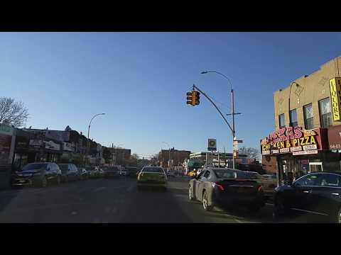 Driving from Jackson Heights to Sunnyside Queens,New York