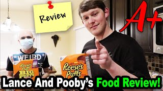 Lance and Pooby's FOOD REVIEW!!! *BTS*