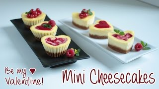 Be My Valentine Mini Cheesecakes | Ricetta San Valentino ♥