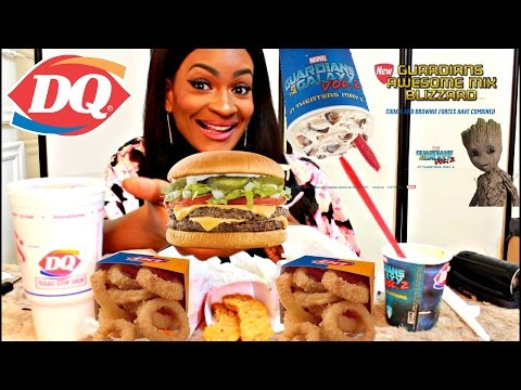 MUKBANG: DAIRY QUEEN! + NEW GUARDIANS BLIZZARD! YUMMYBITESTV