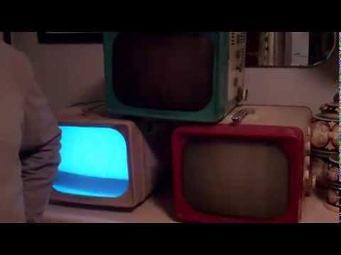 Three 1956 GE BW Portable TV Sets 14T009 14T012 14T014