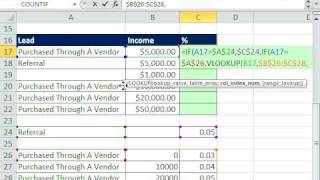 Excel Magic Trick 555: IF & VLOOKUP Formula for Two Distinct Commission Calculations
