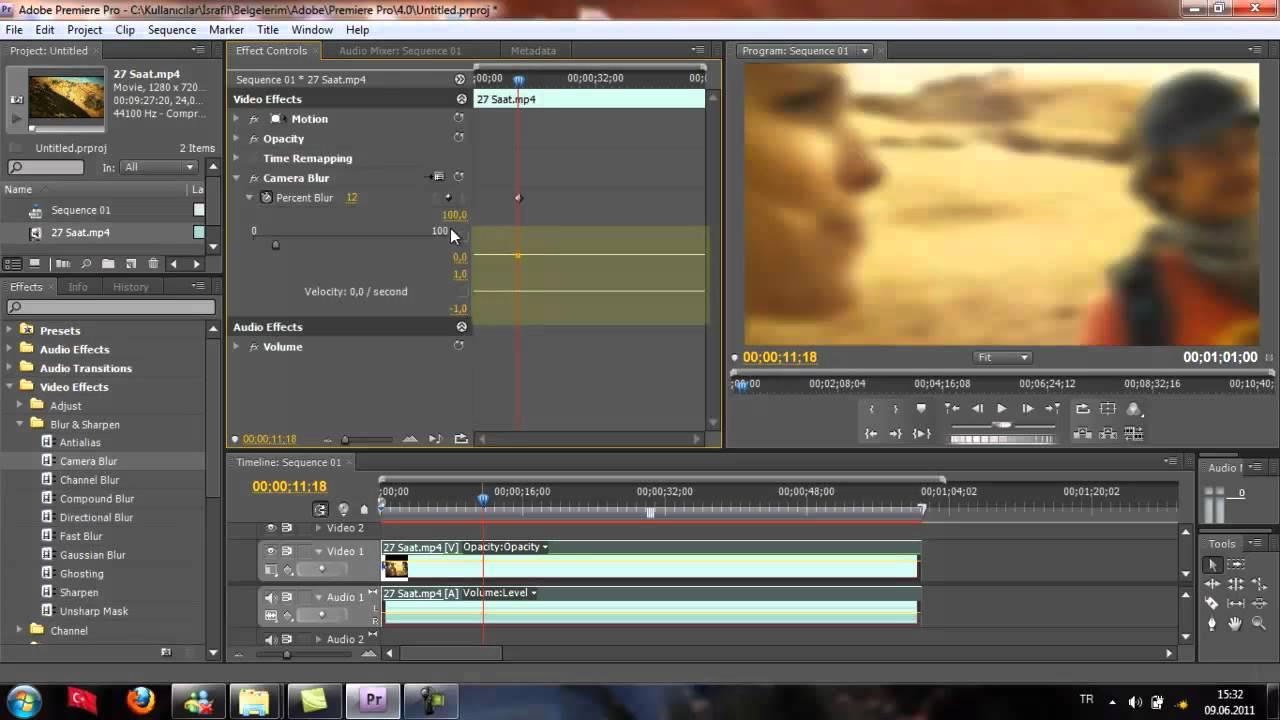 Adobe premiere old film effect
