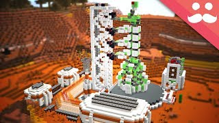 Making the ULTIMATE ROCKET LAUNCH STATION in Minecraft!