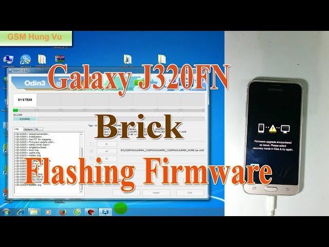 Samsung j3 2016-J320FN Flash firmware Unbrick ok by Odin.