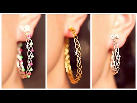 3 EASY braided earrings! | Earrings DIY | SIMPLE DIY