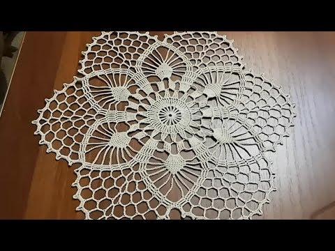 Вязание крючком скатерти салфетки