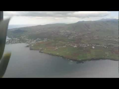 Landing at Lajes Airport, Terceira, Azores Islands