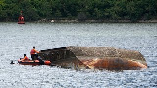 Kapal Milik Kemenkumham Terbalik Diduga karena Angin Kencang dan Ombak