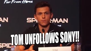 TOM HOLLAND FINALLY REACTS TO SONY PULLING SPIDER-MAN OUT OF THE MCU