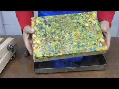 Como hacer tabla de picar con tapas pl sticas youtube for Como hacer una tabla para picar de madera
