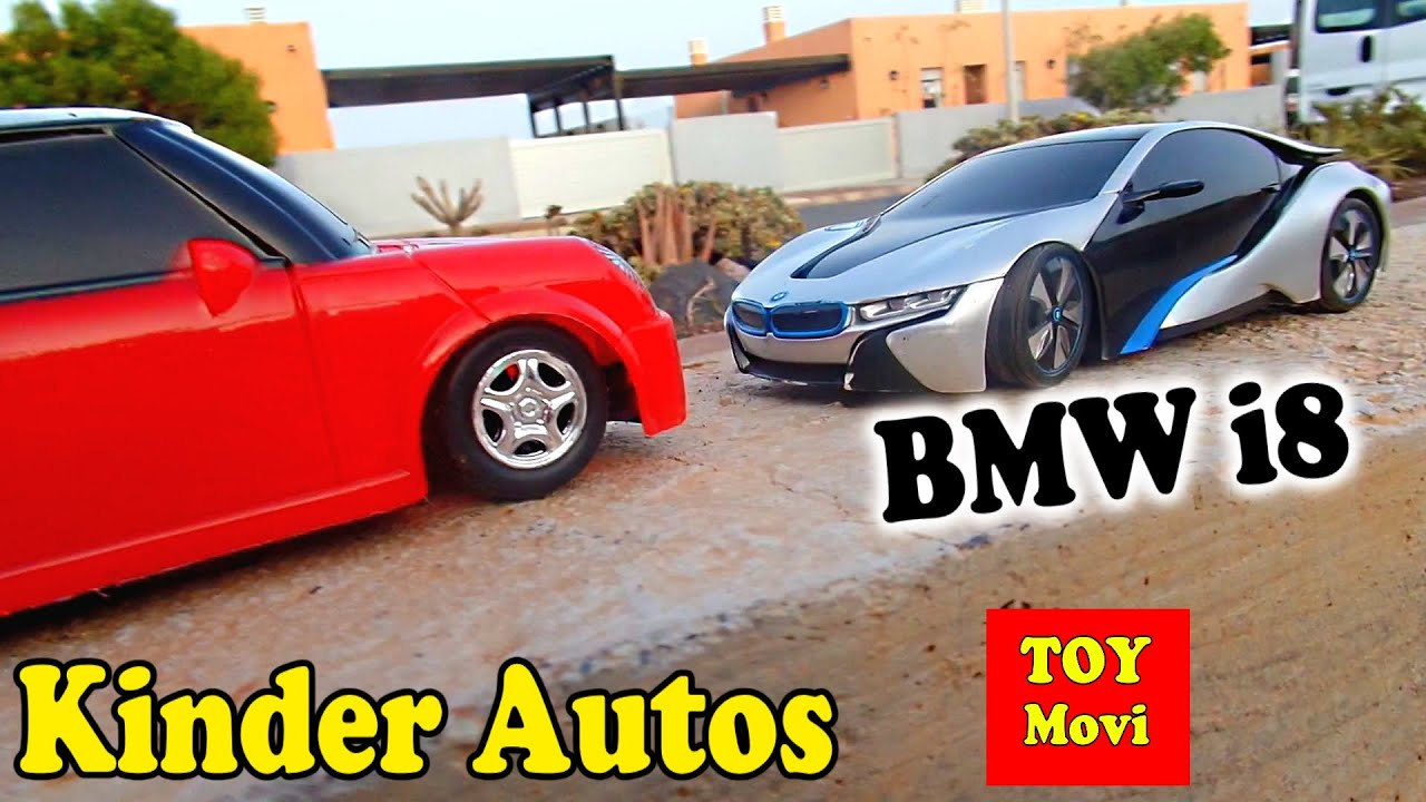 kinder auto film spielzeugautos cars bmw i8 concept mini cooper toys for kids race 4k youtube. Black Bedroom Furniture Sets. Home Design Ideas
