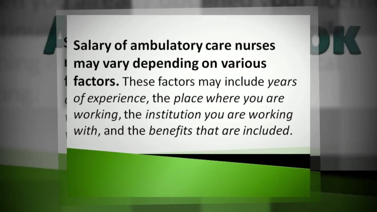 Things you need to know about ambulatory care nurses youtube things you need to know about ambulatory care nurses xflitez Images