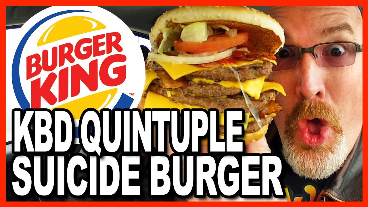 Burger King ★Secret Menu Item★ KBD Quintuple Suicide Burger Food Challenge | KBDProductionsTV