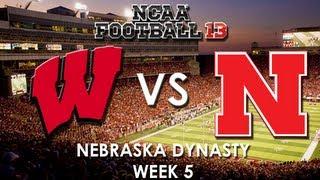 NCAA 13: Wisconsin Badgers vs. Nebraska Cornhuskers (With New Uniforms)