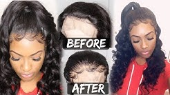 How To PLUCK a Hairline on Wig + Baby Hairs Tutorial (plucking tutorial) OMGQueen