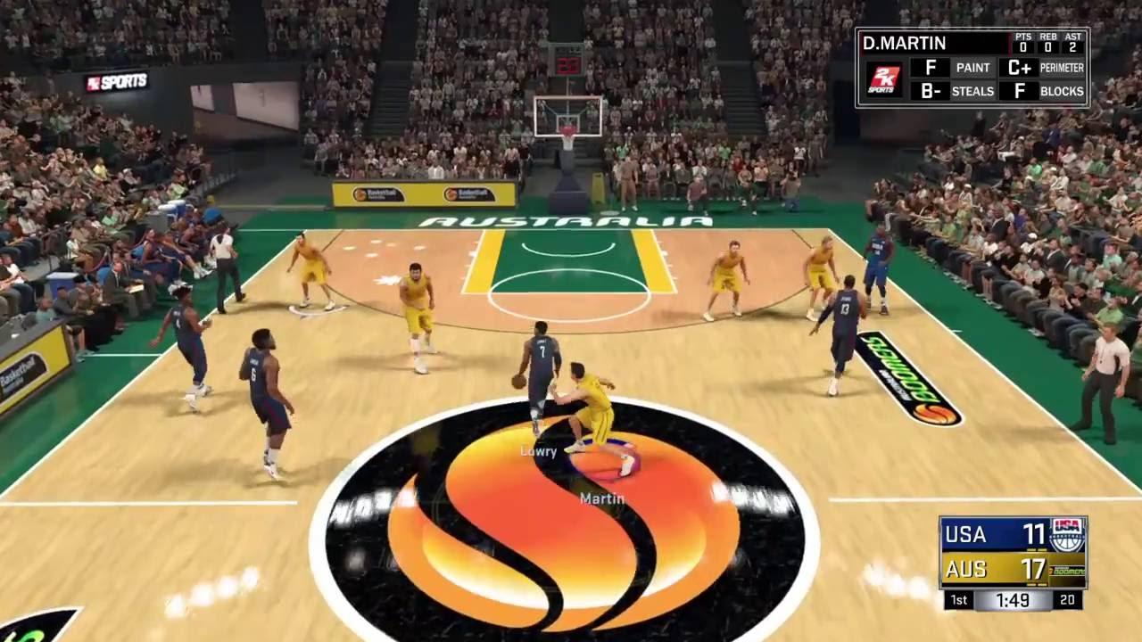 NBA 2K17 Australian Boomers V Team USA YouTube