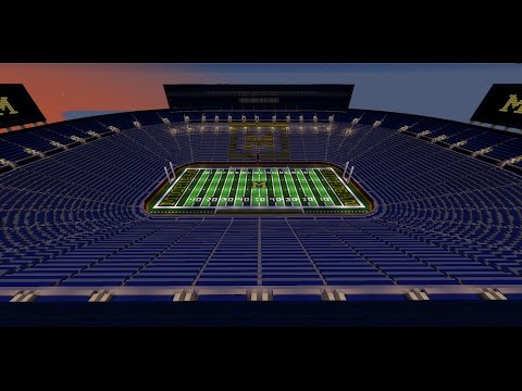 Michigan Stadium - The Big House - Michigan Football - Minecraft Creative Build