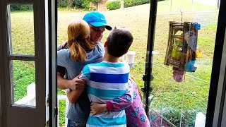 Husband Surprises Family With Visit | Priceless Reaction