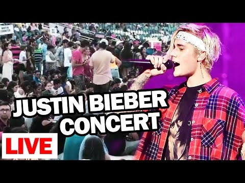 Justin Bieber LIVE Concert India - Inside FOOTAGE - DY Patil Stadium - Purpose India Tour