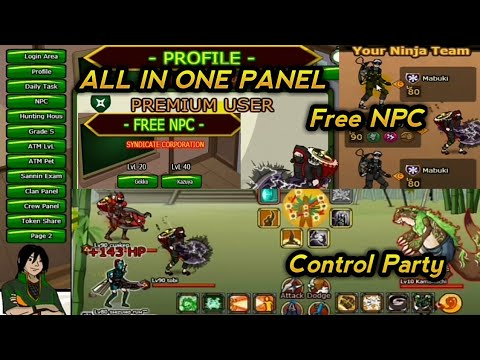 Cheat Ninja Saga Free NPC & Control Party (Recruit Friends ) work 100%