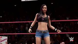 WWE 2K Universe - WWE 2K18: AJ Lee vs Brie Bella vs Ashley Porter Raw is Retro Highlights thumbnail