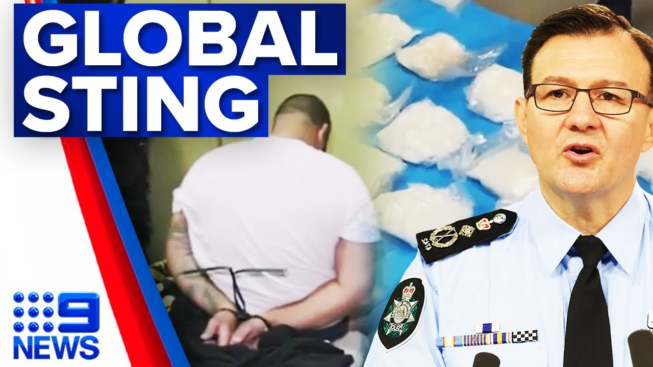 Biggest police sting in Australian history successful | 9 News Australia