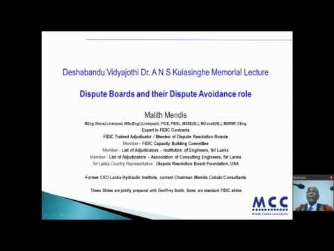 Deshabandu Vidyajothi Eng. (Dr.) A N S Kulasinghe Memorial Lecture - 2015