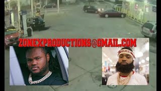 Tee Grizzley shooting  leaked Sada Baby & 3 others in red car shootin his manager (exclusive)