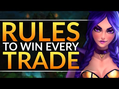 How to WIN EVERY TRADE in Lane - Top 4 RULES for COMPLETE Lane Control - LoL Challenger Pro Guide