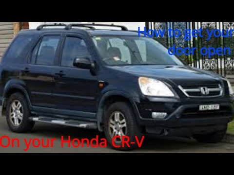Honda CRV door will not open. How to get it open and how it works. Door wil not unlock. Great video