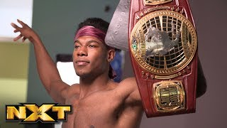 Velveteen Dream poses for his first photoshoot as NXT North American Champion Feb. 20, 2019