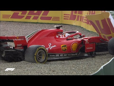 Vettel Crashes Out At Hockenheim | 2018 German Grand Prix
