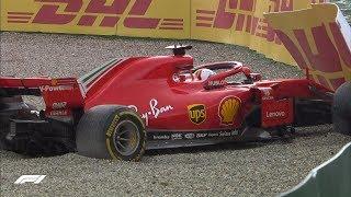 Vettel Crashes Out At Hockenheim | 2018 German Grand Prix