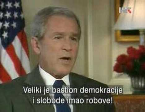 Exclusive interview president Bush Croatian television!