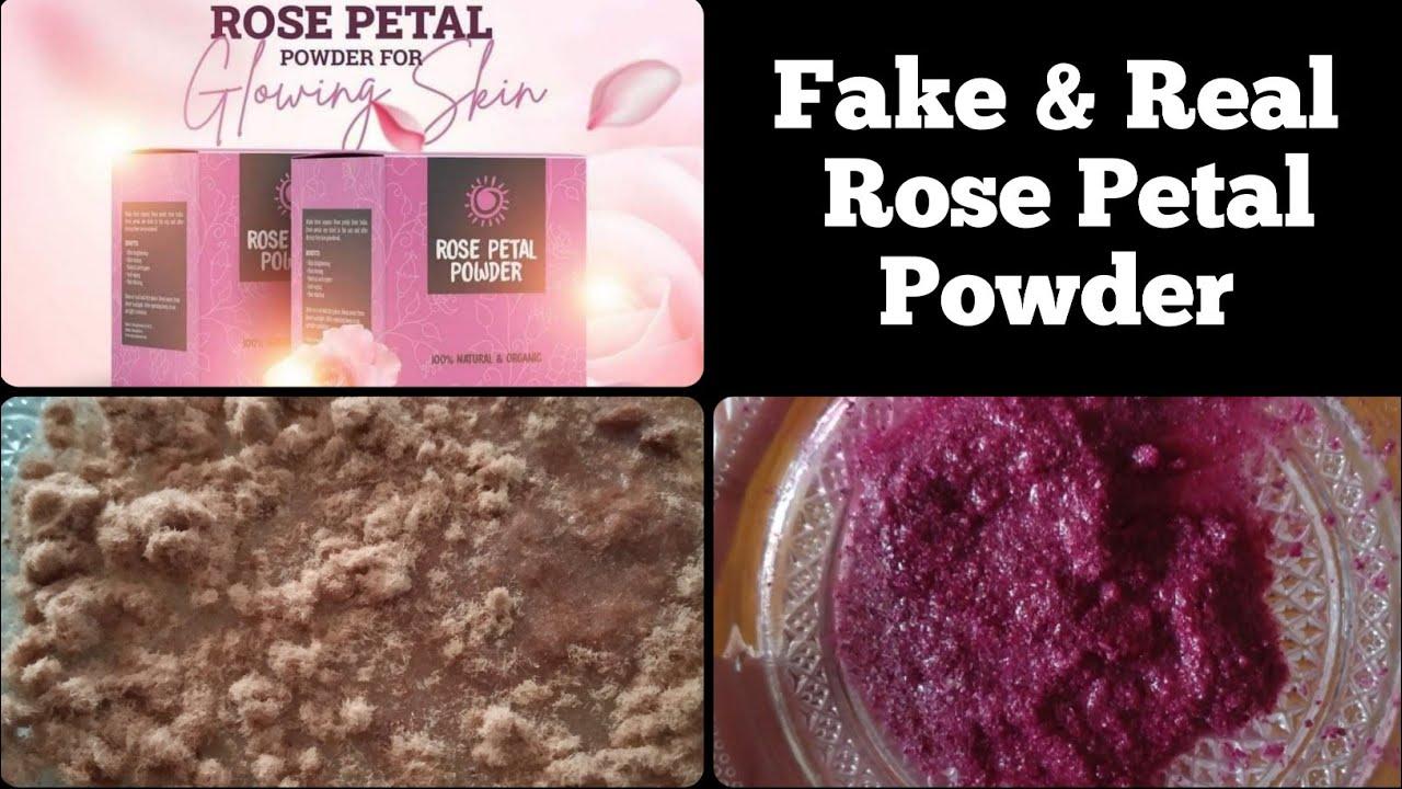 Download Fake & Real Rose Petal Powder | 100% Natural Home Made Rose Petal Powder |