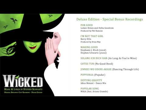 Wicked OCR 10th Anniversary Deluxe Edition CD2 Album Sampler
