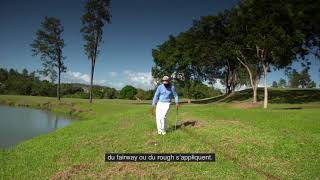 Règles de golf 2019 : Toucher le sol ou des détritus dans une zone à pénalités