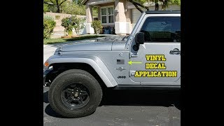 Jeep Wrangler - Vinyl Decal Application - American Flags