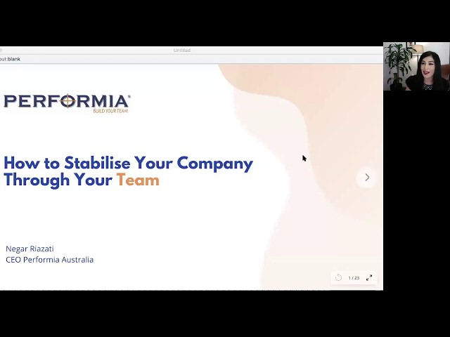 Webinar: How to Stabilise Your Company Through Your Team