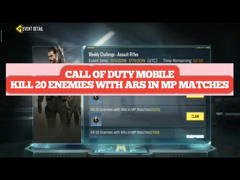 Kill 20 Enemies With Ars In Mp Matches