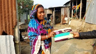 dress gifted to all women of aroundmebd village watch with me our village villagers house