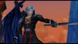 Kingdom Hearts 2 Final Mix Sephiroth Battle 4K 8x res - 16x AF + cutscenes running on PCSX2 1.5.0