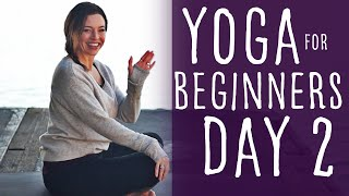 16 Minute Yoga For Beginners 30 Day Challenge Day 2 With Fightmaster Yoga